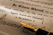 42-16398402 - Closeup of pen and contract